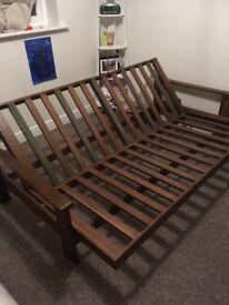 Futon base/ sofa double, wooden