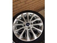 Fiesta Zetec S alloy wheels with new continental tyres