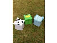 Toy storage boxes