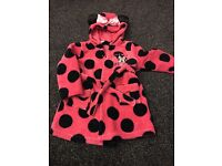 Minnie Mouse Dressing gown 2-3years