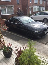 bmw 325d e92 coupe,excellent condition.red leather,19 alloys may swap freelander/4x4