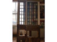 Reclaimed Hardwood 1/2 Lead Glazed Doors