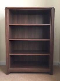 Walnut veneer bookcase