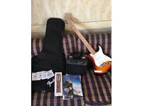 Fender Starcaster plus amp, plus carry case plus strings plus plus
