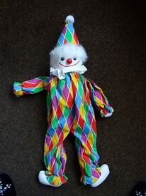 Clown doll, very brightly coloured. 28 inches tall. Brand new. FOR SALE £5