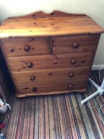 Sold pine Chester of draws