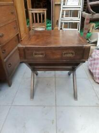 Military Campaign Style Side Table