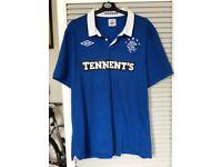 Signed Rangers FC top (Ally McCoist)