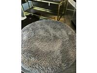 Grey soft ouch circle rug