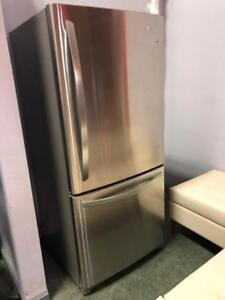 LG Single Door Stainless Steel Fridge - $650.00
