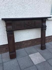 Genuine Victorian solid wood antique fire surround for fireplace project upcycle ornate heavy item