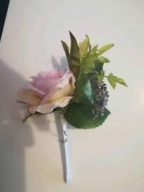 Wedding button hole artificial flower