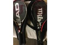 2 WILSON TENNIS RACKETS WITH BAGS INCLUDED
