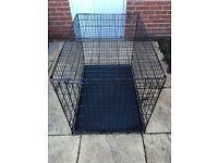 Large black dog crate hardly used