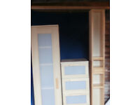Bedroom /other items, Ikea chest of drawers and tall unit, bathroom unit, glass display, cd/dvd rack
