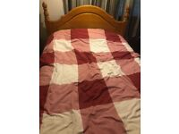 Solid Wood Double Bed and Mattress