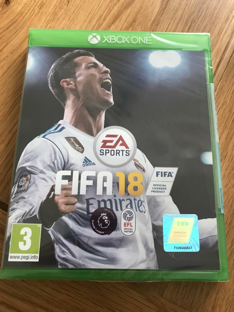 fifa 18 xbox one sealed brand new in stoke on trent staffordshire gumtree. Black Bedroom Furniture Sets. Home Design Ideas