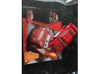 Disney cars lightning McQueen with cone compatible with lego