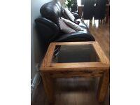 Canadian pine Lamp/coffee table