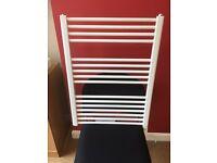 Heatpol white ladder bathroom towel rail/radiator