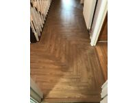 Herringbone oak laminate
