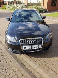 Black Audi A3 s line for sale - excellent condition