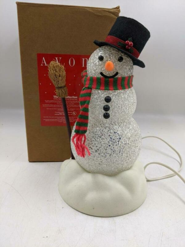 Vintage Avon Chilly Sam Light-Up Snowman Color Changing Christmas Decoration
