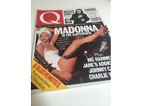 Old Q magazines Bowie, Morrissey, Madonna Acid house