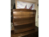 Appealing Small Dark Brown Solid Wood Bookcase