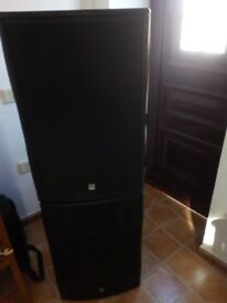 HK Audio PULSAR PL 115 FA active full-range speakers 2 x with Stands