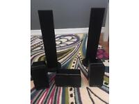 3 Cambridge audio minx 21 speakers and 2 pioneer speakers