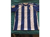 Malaga cf official replica home shirt..2007-09