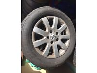 SOLD. VW Golf MK5 alloy wheels with tyres