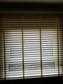 Wooden blinds with tapes