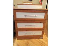 Wardrobe and drawers nursery/childrens set
