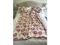 Laura Ashley Kimono Cranberry Curtains