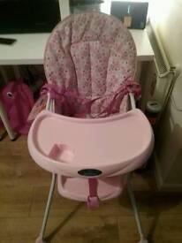 Pink Baby start highchair