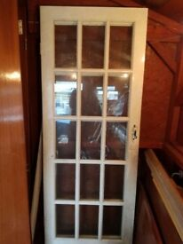 2 Glass Panel Doors (white)