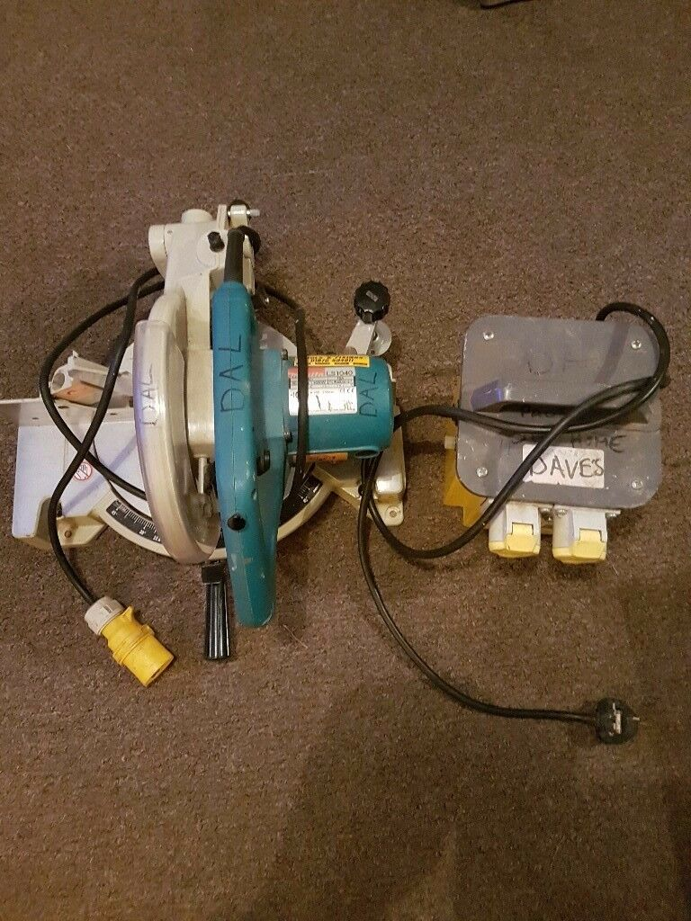 Makita mitre saw and transformer