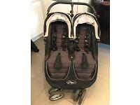 Baby jogger city mini twin pushchair - black/grey