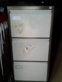 Quality Used 3 Drawer Metal Filing Cabinet + 1 Key - Can Deliver
