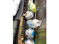 6 bags of ballast and one bag of mastercrete FREE