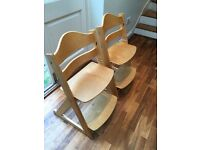 2 Mothercare chairs in Tripp Trapp style