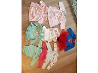 Large bundle of 0-3m baby girls clothes