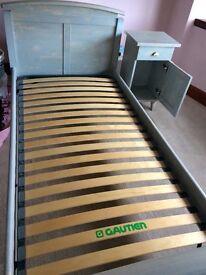 Beautiful Wooden Bedframe & Bedside Table