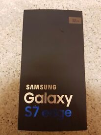 Samsung Galaxy s7 edge gold 32 gb NEW with box and all accessories! On 02