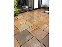 12 msq Sandstone paving in autumn mix blend, in four sizes