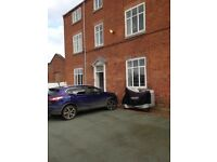 Large ground floor flat to let. Parking. Gas central heating.