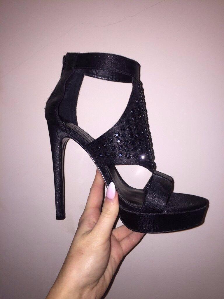 Steve Madden Satin/diamante heels - Size 6