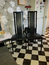 Smoked glass table and chairs